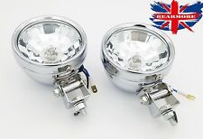 Motorcycle Halogen Clear White Passing Spot Light Fit Custom Modify Universal