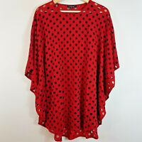 [ FRANCESCA ETTORE ] Womens Mesh Spot Top | Size AU 14 or US 10 / IT 48