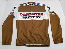 Vintage Dechutes Brewery Cycling Jersey Unisex Adult Large Brown