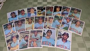 Texas Rangers 1975 SSPC Baseball Card Team Set of 21