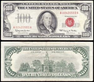 1966 $100 RED SEAL United States Note! FREE SHIPPING! A00420503A