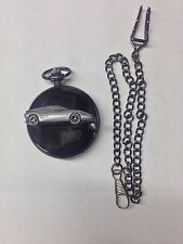 Saab EV1 ref236 Pewter Effect polished black case mens pocket watch