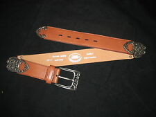 Women's LEATHER BELT / CAST METAL BUCKLE, TIP, & HINGES made in Columbia  NWOT
