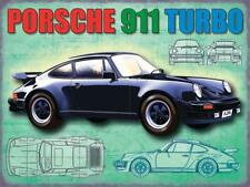 Porche 911 Turbo metal advertising wall sign 300 x 400 mm