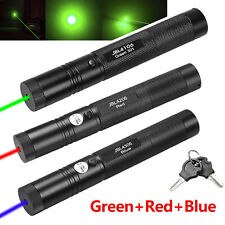 3Pcs Tactical 1mW Green+Red+Blue Laser Pointer Pen Lazer Zoom Visible Beam Light