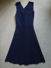 WHISTLES Ladies Cross Backed Skater Style Dress In Navy Size UK 6