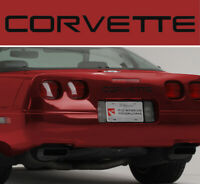 1997-2004 CorvetteC5 Red Domed Front Bumper License Cover Lettering 618504