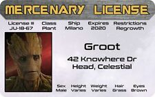 I am GROOT  Guardians of the Galaxy Marvel Comics ID Drivers License