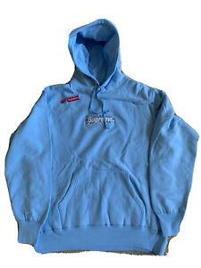 supreme Bandana Blue box logo XL hoodie