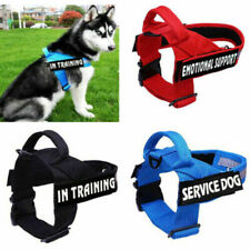 Reflective Non Pull Pets Dog Nylon Harness Training Vest  2 Removable Patches AU