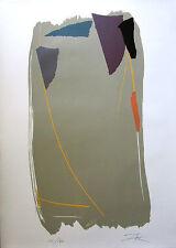 "LARRY ZOX Signed 1979 Original Color Silkscreen - ""Grey Sweep I"""