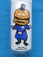 "BIG  MAC        MC DONALD'S  COLLECTOR  SERIES  GLASS      ""POLICEMAN"""