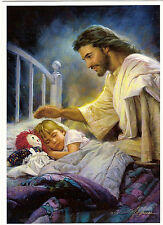 """Jesus And Child Religious Picture - Fits A 5"""" X 7"""" Frame"""