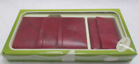 Vintage Baronet Red Clutch Wallet with Matching Key Holder New in Original Box