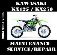 Kawasaki KX125 KX250 Service Manual KX 125 250 Repair Rebuild Maintenance 03-05