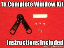 Jeep TJ Zipper The Original Wrangler Soft Top Repair Kit 1996-2006 Slider YKK x1