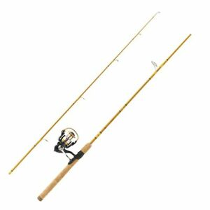 """Eagle Claw Crafted Glass Spinning Combo 6'6"""" 2pc Medium Action Fishing Reel Rod"""