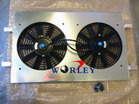 Aluminum Radiator Shroud + 2 Fans for Holden Commodore VZ LS1 LS2 SS V8 AT/MT