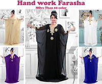 Dubai Farasha Moroccan Kaftan Abaya Jilbab Islamic Arabian clothing Beach Dress