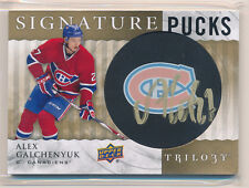 Alex GALCHENYUK Auto Card 2014-15 Upper Deck Trilogy SIGNATURE PUCKS Team Logo