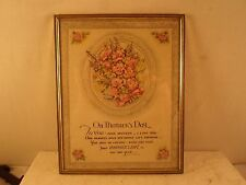 antique goldmetal frame, 8 by 10 inches, print-On Mother's Day# 1067