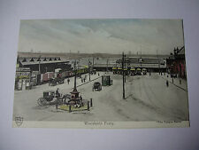 LIV110 - c1905 WOODSIDE FERRY - Horse & Carts & Trams WIRRAL POSTCARD