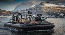 British Army Hovercraft Landing Craft Norway 12x6 Inch Reprint Photo