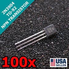 100pcs 2N3904 TO-92 PNP 40V 200mA Transistor US Seller Fast Shipping