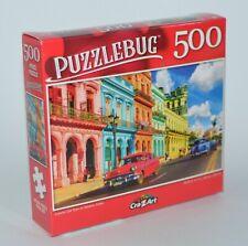 "CRAZART PUZZLEBUG OLD TOWN HAVANA CUBA JIGSAW PUZZLE 500 PIECES 18.25"" X 11"""