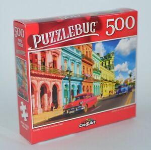 Crazart Puzzlebug Antiguo Ciudad Havana Cuba Puzle Rompecabezas 500 Piezas
