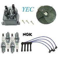 Cap Rotor Wires Spark Plugs Tune Up 11 Pcs Kit for Honda Civic 96-00 1.6L SOHC