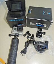 GoPro HERO3+ Silver Edition Camcorder + LCD Touch BacPac Screen Plus accessories