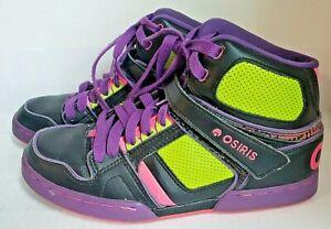 OSIRIS NYC 83 Slim Girls Skate Shoes SIZE 10 Good condition  Pink Purple Black