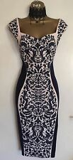 NWT LIPSY Illusion Navy Fitted Wedding Mother Of Bride Party Evenin Dress Uk 10