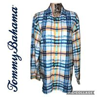 Tommy Bahama Men's Button Down Linen Shirt Size Large Long Sleeve Casual