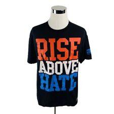 WWE John Cena Rise Above Hate Two Sided Print Black T-Shirt Mens XL X-Large