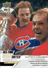 PRESALE 2019-20 UD ALL TIME Game Dated '78 MONTREAL CANADIENS Win 3rd CUP In Row