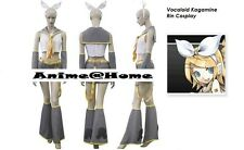 New Top Quality Hatsune Miku - Vocaloid Kagamine Rin Cosplay Costume