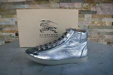 ORIG burberry GR 39 High-Top sneakers schnürschuhe zapatos de plata nuevo PVP 350 €