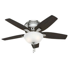 "Hunter Newsome 42 Low Profile 42"" Hugger Ceiling Fan - 5 - Nickel"