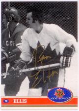 1991-92 Future Trends Canada '72 Ron Ellis Gold Paint Autograph AU