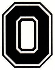 Reflective Black Ohio State Buckeye Block O 3 inch fire motorcycle helmet decal