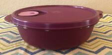 Tupperware CrystalWave Round Container Lunch Bowl Microwaveable 4 Cups Plum New