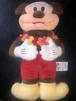 Mickey Mouse Hawaiian Pillow Pal Plush Doll Stuffed Animal with Lei Disney Store