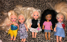 "Lot of 5 Mattel Barbie Melody Kelly Dolls 4"" With Extra Clothes"