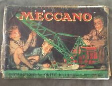 MECCANO INSTRUCTIONS FOR OUTFIT NO7/8
