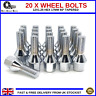 20 x WHEEL BOLTS M12X1.25 NUTS TAPERED CONE SEAT FOR JEEP RENEGADE (2014-16)