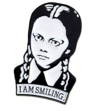 "The Adams Family Wednesday Character 1 1/4"" Tall Enamel Metal Logo Pin"