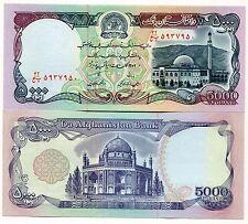 P62 Afghanistan 5000 Afghanis Banknote Money Unc