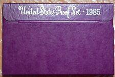 1985 US Proof Set, BONUS: BU Mint Sealed Coins